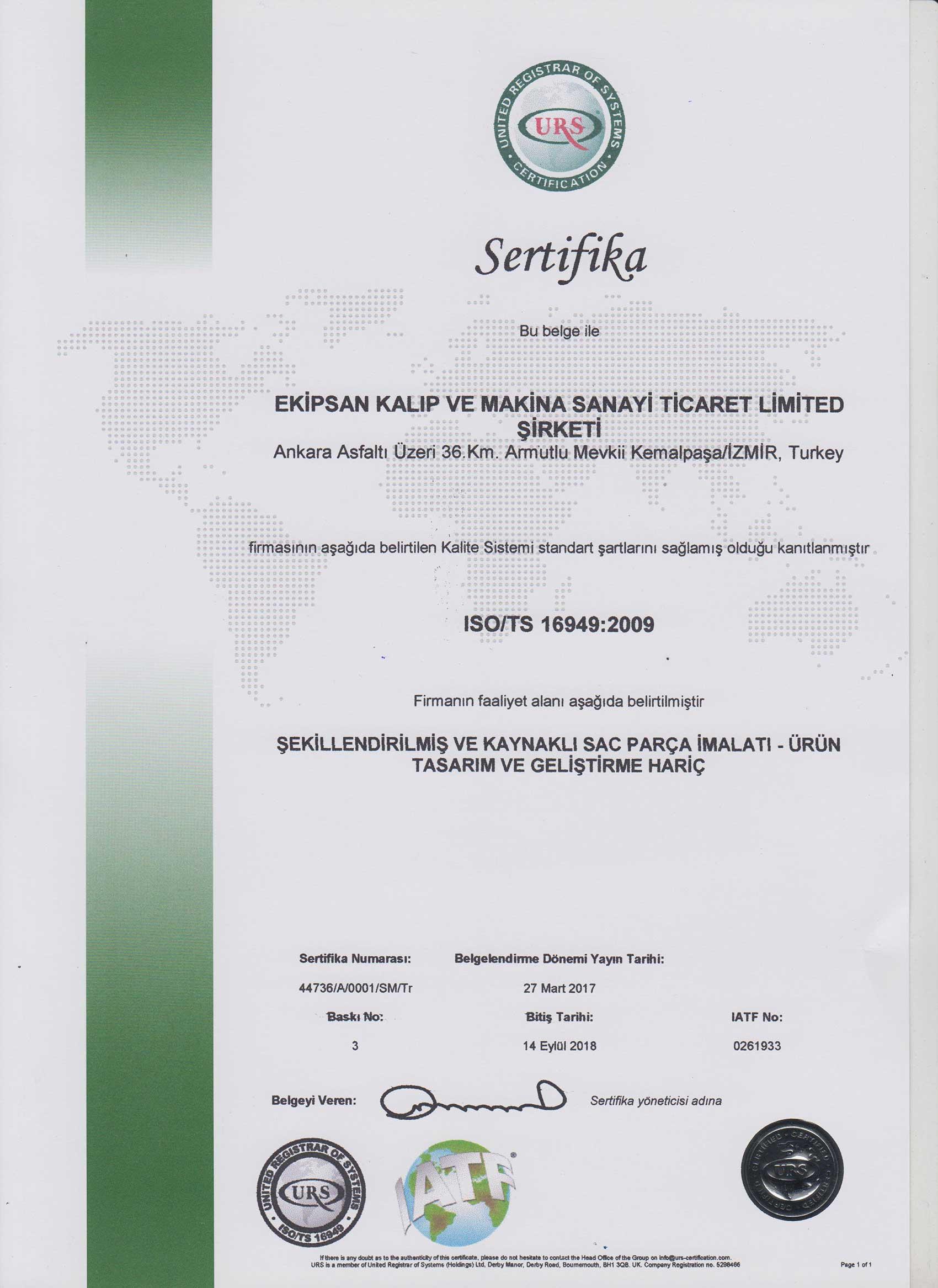 ISO TS 16949-2009 TR